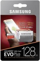128 Gb Samsung EVO PLUS 100Mb/s MB-MC128GA/RU / Read 100Mb/s / Write 90mb/s Карта памяти MicroSDXC