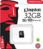 32 Gb Kingston class 10 80Mb/s б/ад Canvas Select/UHS-IU1/SDCS/32GBSP/R-80Mb/sW-10Mb/s Карта памяти MicroSDHC