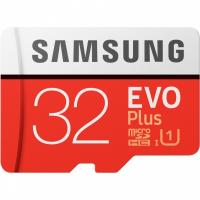 32 Gb SAMSUNG EVO Plus V2 c SD adapter Карта памяти microSDHC