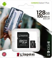 128 Gb MicroSDXC Kingston class 10 100Mb/s Canvas
